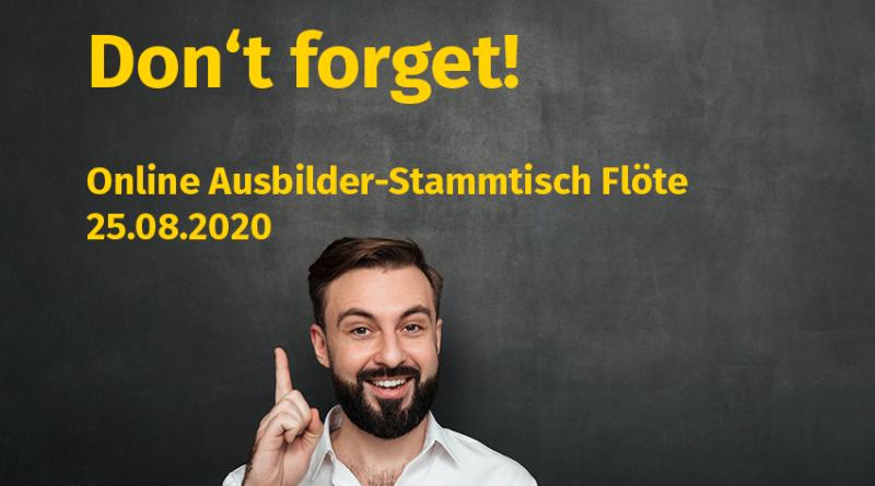 Reminder Ausbilder-Stammtisch Flöte Volksmusikerbund NRW