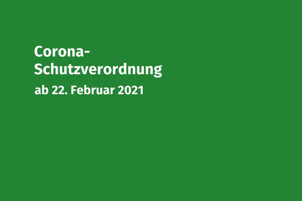Coronaschutzverordnung 22-02-2021 Volksmusikerbund NRW