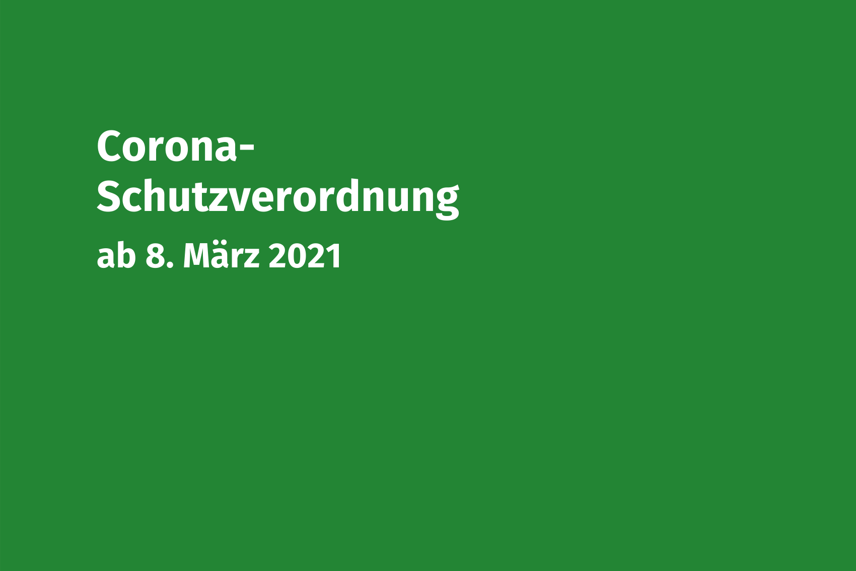 Coronaschutzverordnung 08-03-2021 Volksmusikerbund NRW