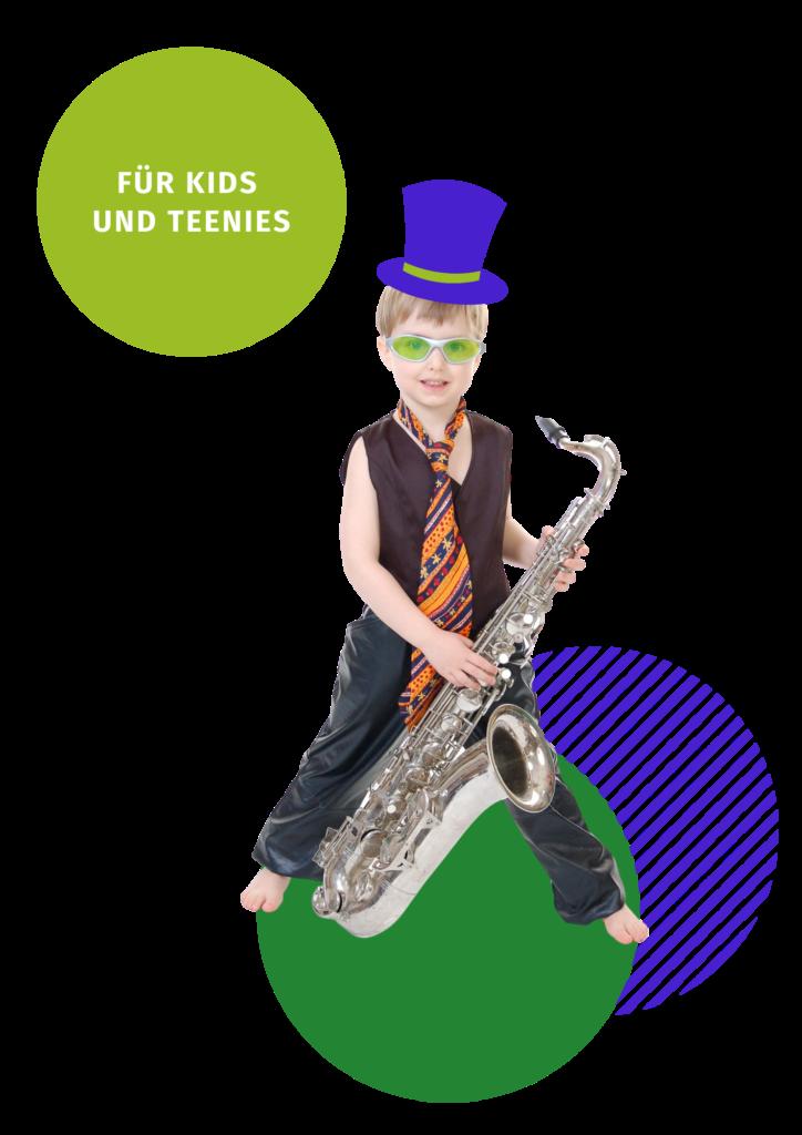 PLAY! Digitalter Musikwettbewerb 2021 Kids Musik Instrument Saxophone Volksmusikerbund NRW