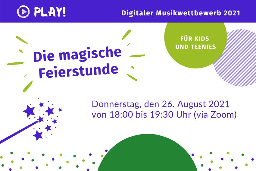 PLAY! Abschlussveranstaltung Magische digitale Feierstunde Volksmusikerbund NRW
