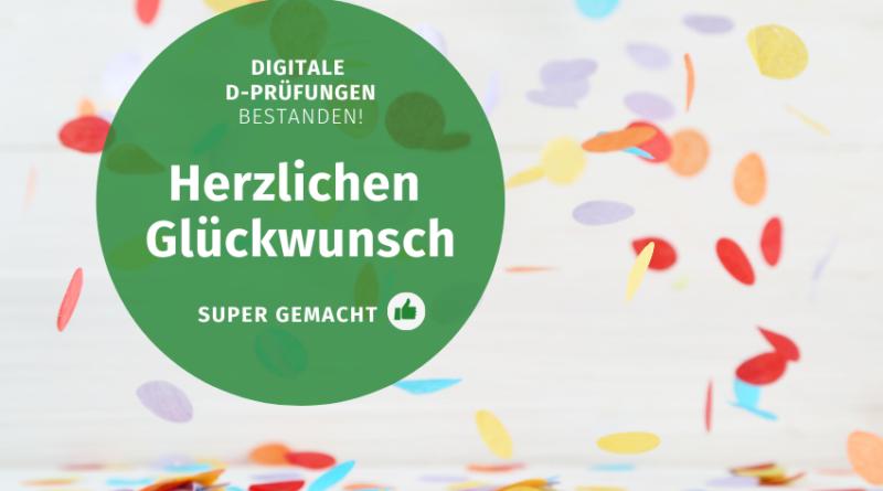 Gratulation Digitale D-Pruefungen Volksmusikerbund NRW