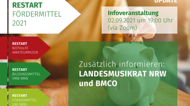 RESTART Fördermittel LMR NRW BMCO IMPULSInfoveranstaltung Volksmusikerbund NRW