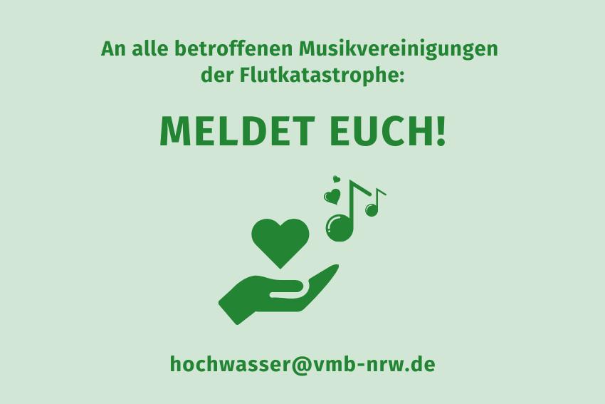 Flutkatastrophe Hilfe Betroffene Musikvereinigungen Volksmusikerbund NRW