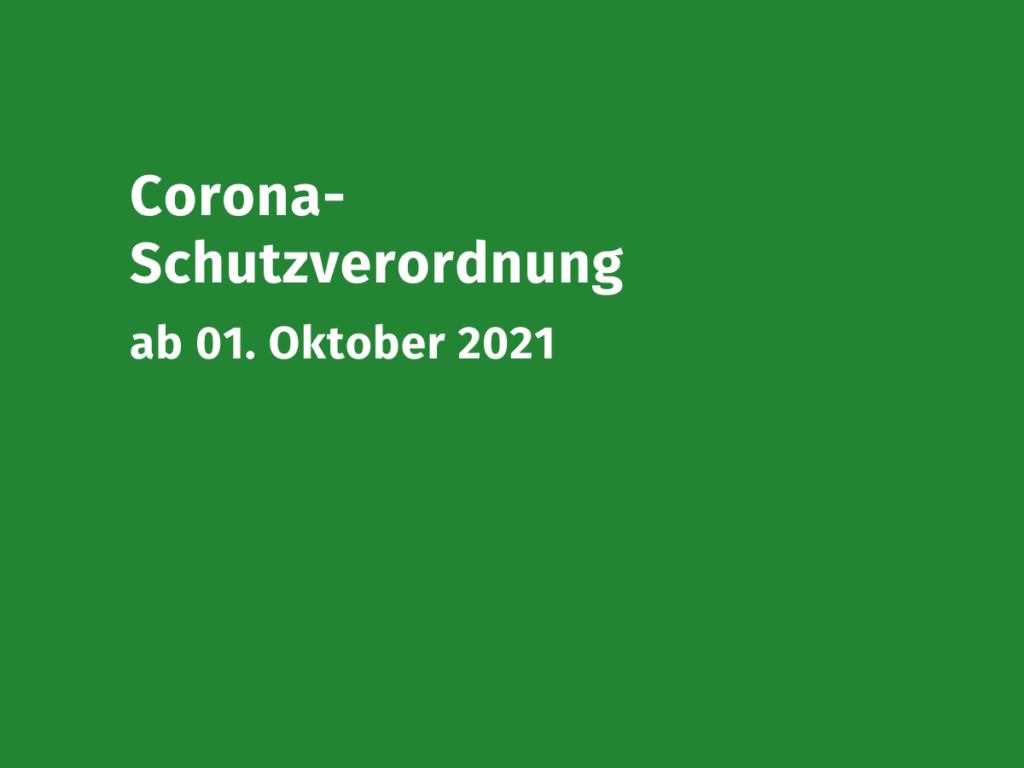 Coronaschutzverordnung 01.10.2021 VMB NRW